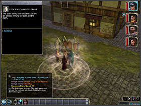 You now have to pay a visit to 4 city watch units stationing in the docks and talk to their leaders, trying to persuade them to work for you - Moire's Gang - Neverwinter - Neverwinter Nights 2 - Game Guide and Walkthrough