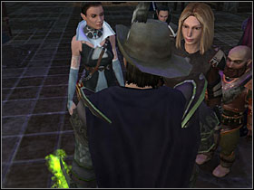 Defeat all the lesser demons and find the warlock, who's already killed Melia - Lord Tavorick's Shard - Tracing Aldanon - Neverwinter Nights 2 - Game Guide and Walkthrough