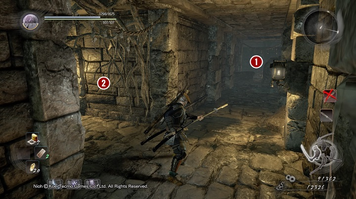 Going further you can see the corridors just like on the picture above - The Spirit Stone Slumbers | Main missions - Main missions - NiOh Game Guide
