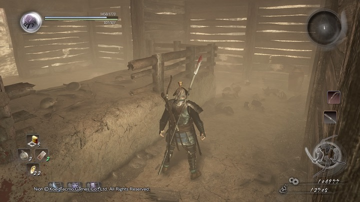 It should be noted that in one of the houses you can be caught in a trap - the floor under you collapses and you fall to the underground area - A Request from Ginchiyo | Side missions - Side missions - NiOh Game Guide