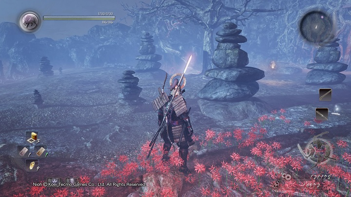 This mission takes you to a small arena where you have to face various Yokai - The Guardian of the Underworld | Side missions - Side missions - NiOh Game Guide