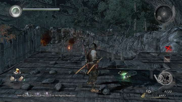 What is important is that behind the ladder, under the small wooden platform there is a Kodama - Isle of Demons part 2 | Main missions - Main missions - NiOh Game Guide