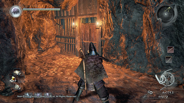 Behind this door you can find another crystal that you must destroy - The Demon of Mount Hiei | Main missions - Main missions - NiOh Game Guide