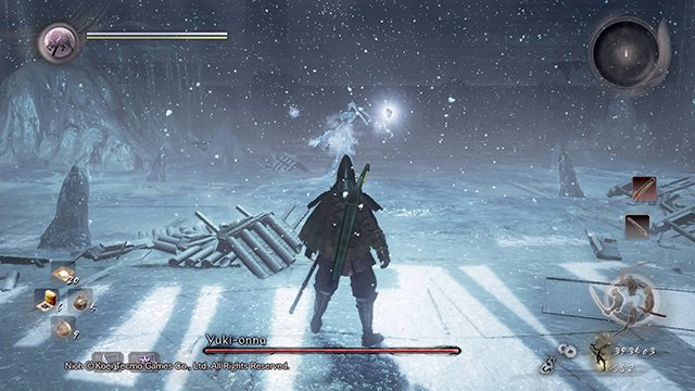 You will have to face this boss - Yuki-onna | Boss battle - Boss Encounters - NiOh Game Guide