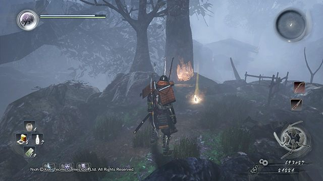 After dropping the trees you will unlock a shortcut - Memories of Death Lilies | Main missions - Main missions - NiOh Game Guide