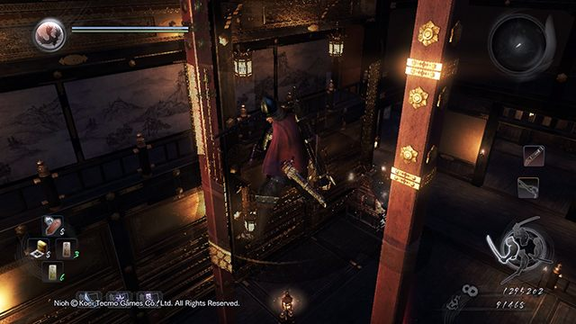 Use the lift to get to the higher floor - The Demon King Revealed | Main missions - Main missions - NiOh Game Guide