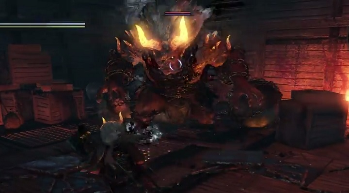 The battle takes place below the deck of a merchant ship. - Onryoki | NiOh Boss Encounters - Boss Encounters - NiOh Game Guide