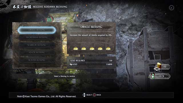 You can activate additional benefits - Shrines | Gameplay mechanics - Gameplay mechanics - NiOh Game Guide