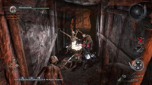 The combat becomes harder when you are surrounded by enemies. - Exploration and combat | Gameplay mechanics - Gameplay mechanics - NiOh Game Guide