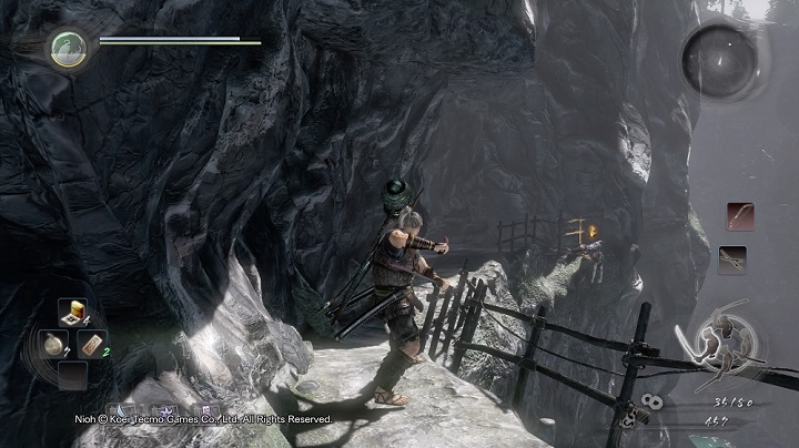 After you have visited the Shrine, head deeper into the location - Deep in the Shadows | Main missions - Main missions - NiOh Game Guide