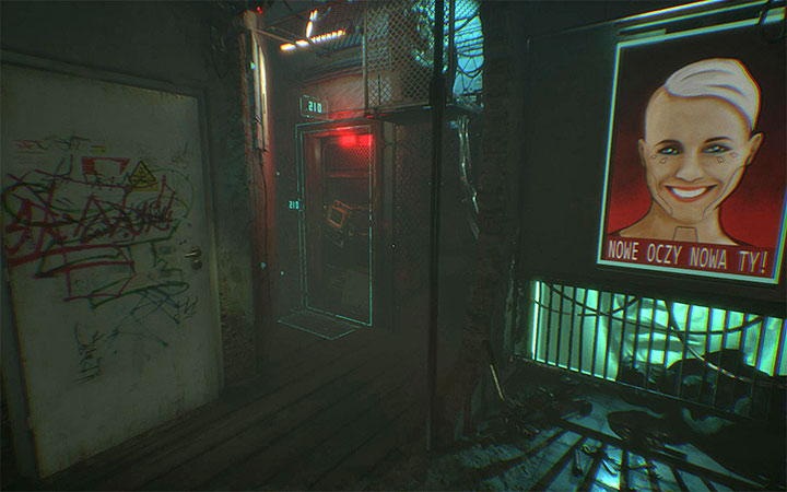 When the hallucination ends you receive an objective to locate the owner of the tattoo parlor, for which you must talk to the guard again, who should be in the main courtyard - Investigate apartment 210 | Case #405 Walkthrough - Case #405: Finding Adam - Observer Game Guide