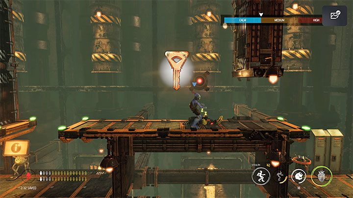 You'll find the key while playing the 6 - Oddworld Soulstorm: Keys - full list - Finders & Secrets - Oddworld Soulstorm Guide