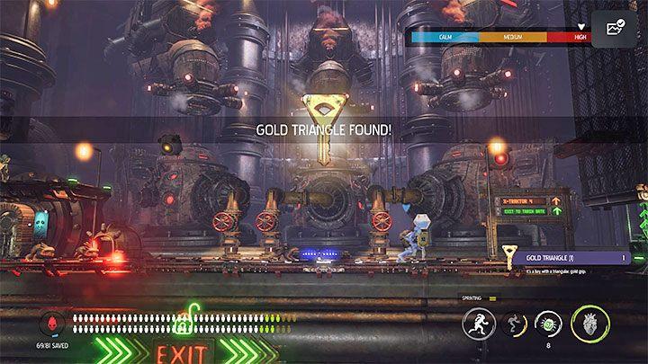 After Mudokons are freed, a Slig with a minigun will appear - Oddworld Soulstorm: Keys - full list - Finders & Secrets - Oddworld Soulstorm Guide