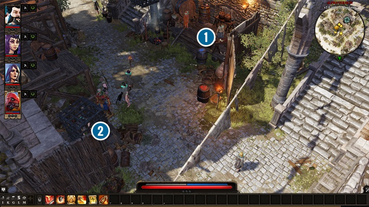 You can find Amyro[2] in Camp Kitchen, but it turns out that he has been imprisoned by the commandant of the camp named Griff[1] - The Imprisoned Elf | Act I - Chapter II - Fort Joy - Divinity: Original Sin II Game Guide