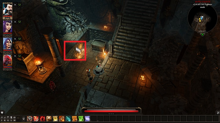 While in Fort Joy Prison, you have to use the secret handle shown in the above screenshot - Withermoores Soul Jar | Act I - Chapter II - Fort Joy - Divinity: Original Sin II Game Guide