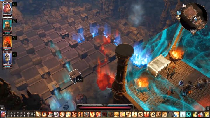 Moving the pipes in a certain way allows you to transport the substance to the right place. - Arx Puzzles | Puzzles and secrets - Puzzles and secrets - Divinity: Original Sin II Game Guide