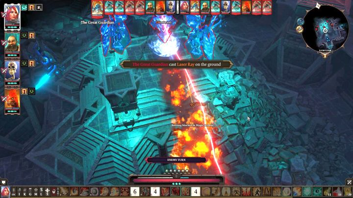 The three enemies like to cast their spells in a straight line - you should scatter your party. - Nameless Isle enemies | Tough fights and bosses - Tough fights and bosses - Divinity: Original Sin II Game Guide