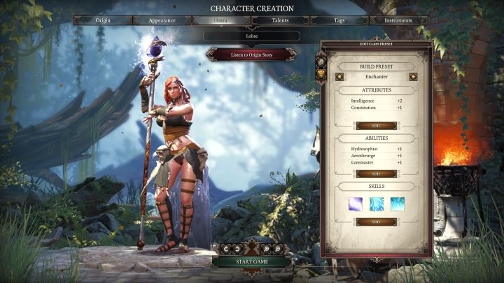 Enchanter in the class selection screen. - Enchanter Class - Classes - Divinity: Original Sin II Game Guide
