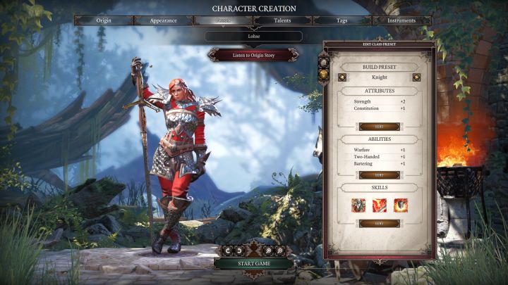 Knight in the class selection screen - Knight Class - Classes - Divinity: Original Sin II Game Guide