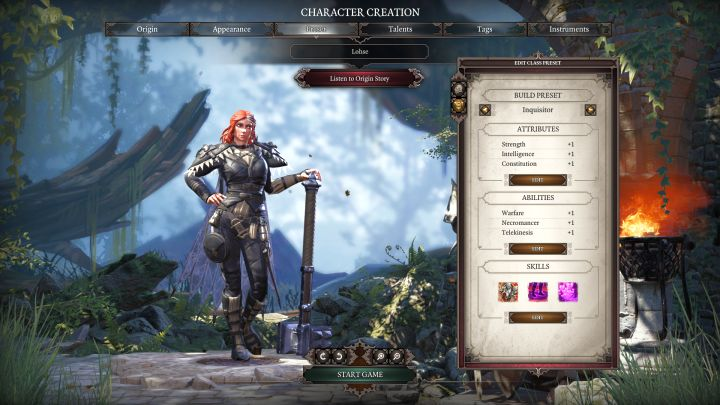 Inquisitor in the class selection screen. - Inquisitor Class - Classes - Divinity: Original Sin II Game Guide