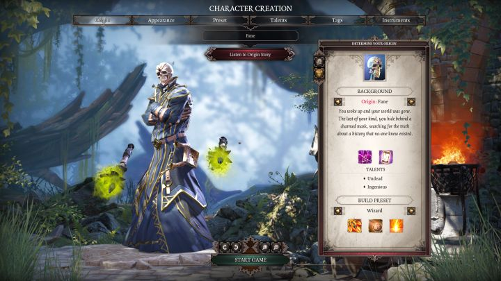Fane and his default class, Wizard. - Fane | Characters - Characters - Divinity: Original Sin II Game Guide