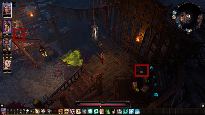 The evidences are in Ships Manifest and Letter with a large ink stain - The Law Of The Order | Reapers Coast - Chapter IV - Reapers Coast - Divinity: Original Sin II Game Guide
