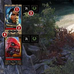 You can access the party composition in the upper left corner throughout the whole game - Game Interface in Divinity Original Sin 2 - Basics - Divinity Original Sin 2 Guide