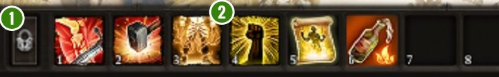 The action bar, shown on the screenshot above, allows for quicker management of the available abilities and equipment - Game Interface in Divinity Original Sin 2 - Basics - Divinity Original Sin 2 Guide