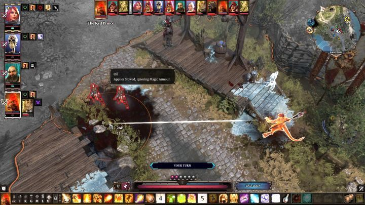 Setting oil on fire will deal a lot damage. - General tips & tricks for Divinity Original Sin 2 - Tips & Tricks - Divinity Original Sin 2 Guide
