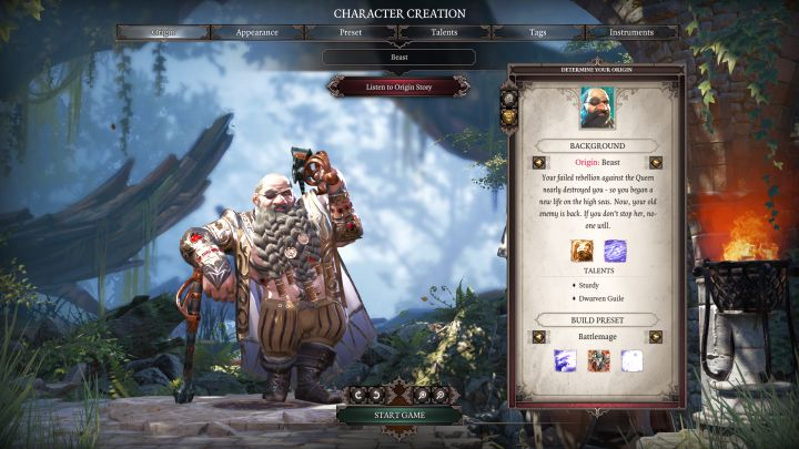 Beast and his default class, Battlemage. - Beast | Characters - Characters - Divinity: Original Sin II Game Guide