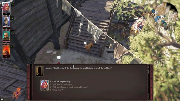 Pet Pal talent allows you to speak with animals. - Starting tips | Tips & Tricks - Tips & Tricks - Divinity: Original Sin II Game Guide