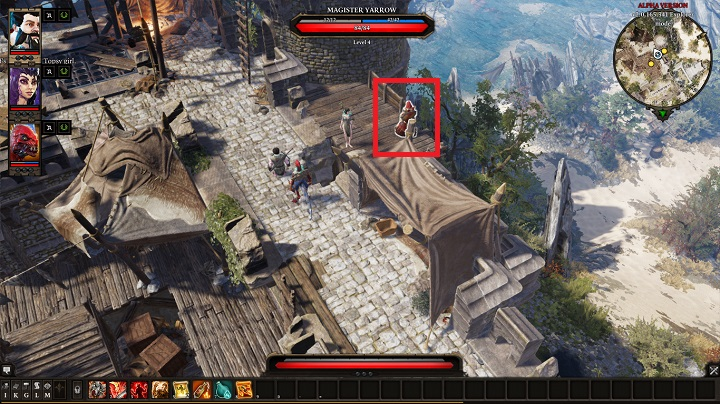 On one of the defense walls right by the entrance to the Fort, you find Magister Yarrow - The Murderous Gheist | Act I - Chapter II - Fort Joy - Divinity: Original Sin II Game Guide