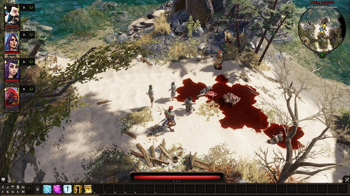 If you follow her and talk to her on the beach, she will give you a key, which you can use to open one of the doors in the Fort - The Murderous Gheist | Act I - Chapter II - Fort Joy - Divinity: Original Sin II Game Guide