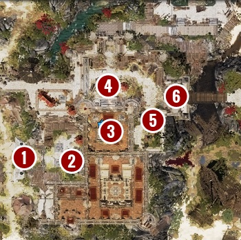 If you feel confident, you can engage guards at the main gate [1] - Escape from Fort Joy Ghetto | Act 1 - Chapter II - Fort Joy - Divinity: Original Sin II Game Guide