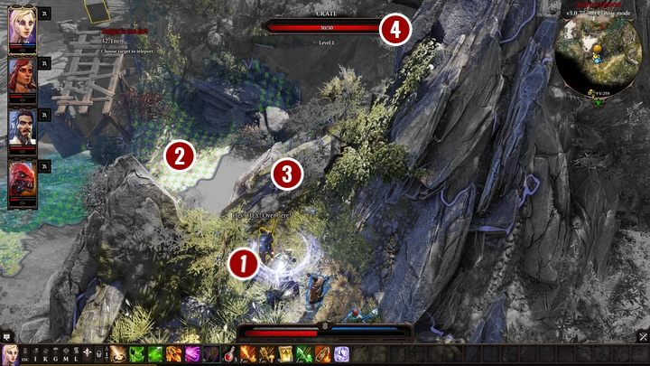 In this case you have to teleport Gawin [1] to one of the available places on the beach [2] - The Teleporter | Act I - Chapter II - Fort Joy - Divinity: Original Sin II Game Guide