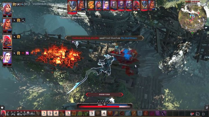 You should kill the main enemy quickly because he can inflict a lot of negative status effects. - Fort Joy enemies and bosses | Tough fights and bosses - Tough fights and bosses - Divinity: Original Sin II Game Guide