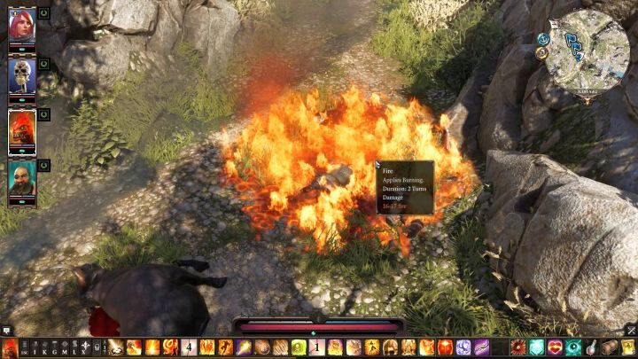 One of the basic effects in the game - Fire. - The basic effects in the game | Effects and combinations - Effects and combinations - Divinity: Original Sin II Game Guide
