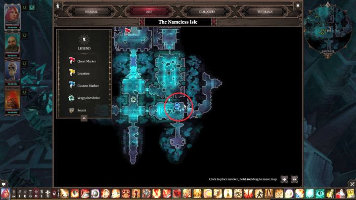 Location of the room on the map... - Nameless Isle puzzle | Puzzles and secrets - Puzzles and secrets - Divinity: Original Sin II Game Guide