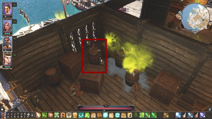 Speak with it and you learn that the barrel is a man called Higba who is wanted by magisters - Strange Cargo | Reapers Coast - Chapter IV - Reapers Coast - Divinity: Original Sin II Game Guide