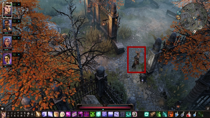 A grave keeper, called Farmiah, roams the terrains of Stonegarden - The Reluctant Servants | Reapers Coast - Chapter IV - Reapers Coast - Divinity: Original Sin II Game Guide