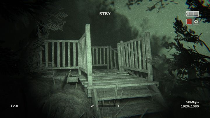 In the beginning of the stage you must exit the cave and go straight ahead - The Lake | Lamentations | Walkthrough - Lamentations - Outlast 2 Game Guide