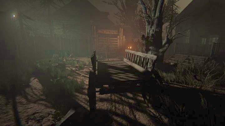 To walk through it, you have to push the nearby wooden cart into it - The Chapel | Genesis | Walkthrough - Genesis - Outlast 2 Game Guide