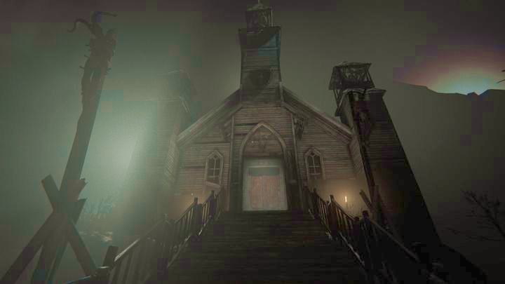 Go in its direction and you will see an open gate on the left - The Chapel | Genesis | Walkthrough - Genesis - Outlast 2 Game Guide