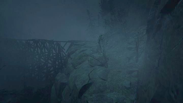 Once back on the path to the mine, go straight on towards the bridge - The Scaled | Job | Walkthrough - Job - Outlast 2 Game Guide