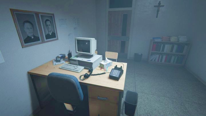 Then, go back to the side corridor and enter the room with the ringing phone - A Call for Help | Job | Walkthrough - Job - Outlast 2 Game Guide