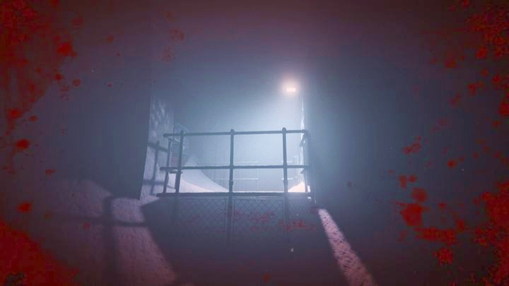 Climb up and cross the railing - The School Roof | Job | Walkthrough - Job - Outlast 2 Game Guide