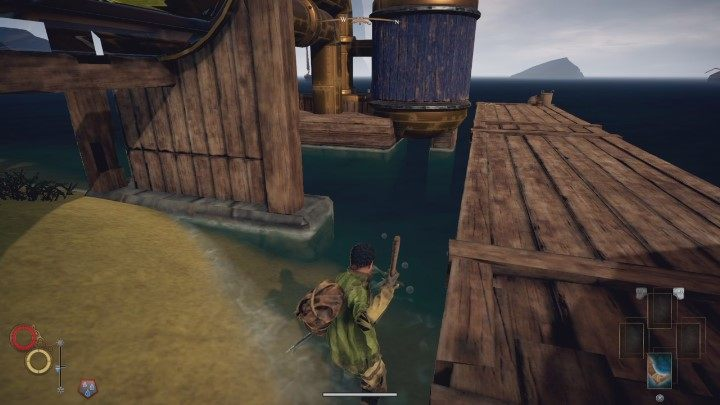 Several fishing spots can be found on the beach in Cierzo. - How to earn the 150 silver at the beginning of Outward? - FAQ - Outward Guide