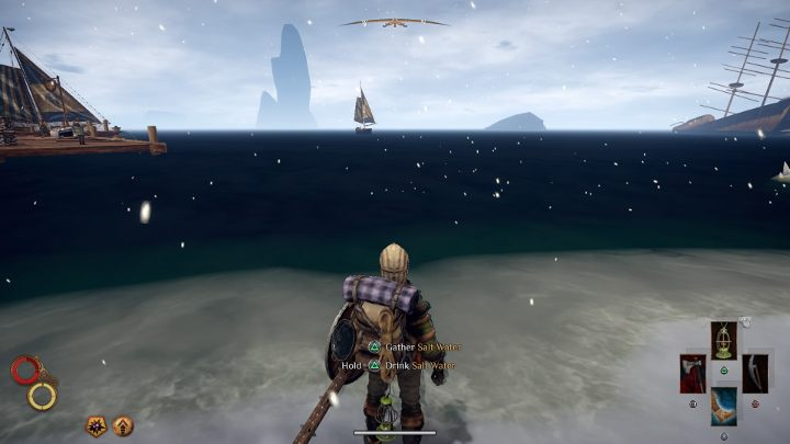 Fill the Waterskin with salt water. - How to obtain salt in Outward? - FAQ - Outward Guide