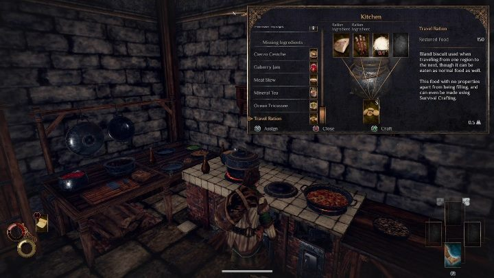 Food and drinks can be prepared in the kitchen or with the pan - Crafting in Outward - Tips - Outward Guide