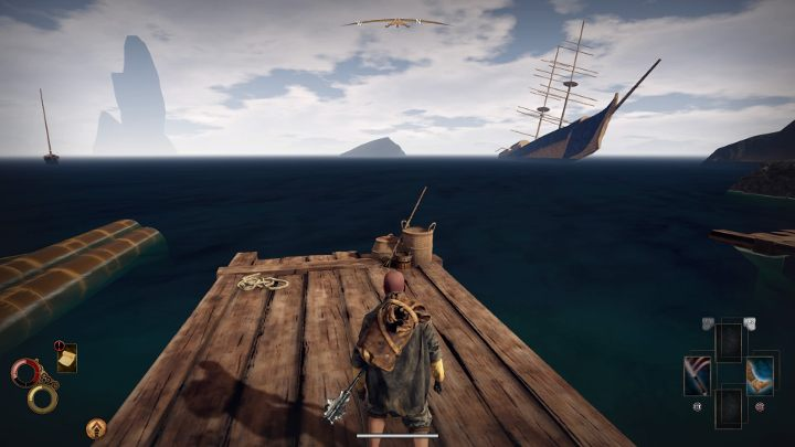 Then go to the bridge behind the construction - there, you will find the Fishing Harpoon. - Fishing in Outward - How to get the Fishing Harpoon? - FAQ - Outward Guide